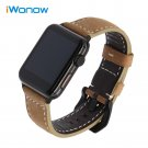 Imported Vintage Leather Watchband for iWatch Apple Watch 38mm 42mm Series