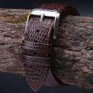 18mm 20mm 22mm 24mm Brown MAN New Top Grade Lizard pattern Genuine Leather