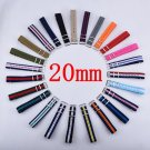 Carty Watchband 1PCS Nylon Nato Watch Strap 20mm Watch Band Waterproof Watc