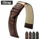 iStrap 18mm to 24mm Genuine Leather Watch Band Straps for IWC Hamilton Omeg