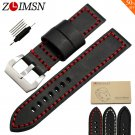 ZLIMSN Sport Thick Genuine Leather Watch Bands Replacement 20 22 24mm Wrist