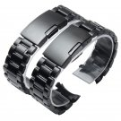 New Watch Band Womens Men 14mm 16mm 18mm 20mm 22mm 24mm Buckle Black Stainl