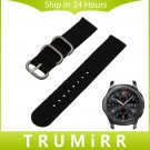 22mm Nylon Watch Band Zulu 2 Pieces Strap for Samsung Gear S3 Classic Front