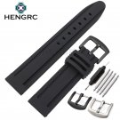 22mm 24mm Rubber Watchband Bracelet Sport Soft Diving Clock Silicone Watch