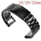 18/20/22mm Men Stainless Steel Bracelet Solid Link Wrist Band Watch Strap R