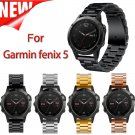22mm Width Classic Stainless Steel Metal Strap for Garmin Fenix 5 Band, Met