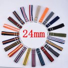 Strap For Hours 1PCS Nato Strap 24mm Nylon Watch Band Waterproof Watch Stra