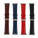 Genuine Leather Crocodile Pattern Replacement Strap For Apple Watch 38MM 42