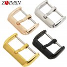 ZLIMSN 10 12 14 16 18 20 22mm Solid Stainless Steel Metal Buckle Watch Band
