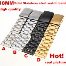 High quality 1PCS 18MM 20MM 22MM 24MM Solid Stainless Steel Watch band Watc