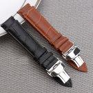 Men Women Black Brown Genuine Leather Watch strap 18mm 20mm 22mm Watch Band