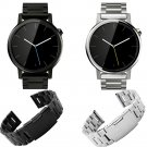 Black Watchbands 22mm High Quality Stainless Steel Watch Band Bracelet For