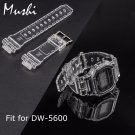 MS Silicone Watch Strap for Casio DW 5600 Transparent Men  Sport Diving 16m