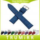Croco Genuine Leather Watchband 8/10/12/14/16/17/18/19/20/21/22/23/24/26/28
