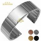 Stainless steel bracelet solid metal watchband 16 18 20 22mm watch strap wr