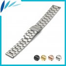 Stainless Steel Watch Band 18mm 20mm 22mm 23mm 26mm for Seiko Folding Clasp