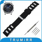 22mm Silicone Rubber Watch Band with Stainless Steel Buckle for Samsung Gea