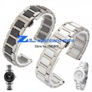 16mm 18mm 20mm ceramic Bracelet and stainless steel watchband white or blac