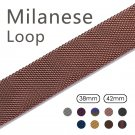 Milanese Loop Band for Apple Watch 38/42mm Series 1/2/3 Stainless Steel Str