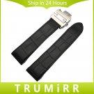 20mm 23mm Genuine Leather Watchband for Santos 100 Men Women Chronograph Wa