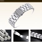 Fit mk Watch Band Sliver Stainless Steel Bracelet Buckle Strap Clip Adapter