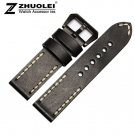 20mm 22mm 24mm New Soft Smooth Black High Quality Genuine Leather Watch Ban