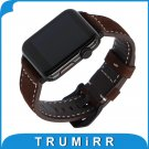 Vintage Genuine Cow Leather Watchband for iWatch Apple Watch 38mm 42mm Seri