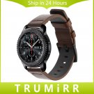 22mm Italy Oily Genuine Leather Watchband for Samsung Gear S3 Classic Front