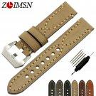 ZLIMSN Watchbands Genuine Leather Thick Watch Band Strap Bracelet Belt 20 2