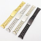 Silver /Gold / Goldsmith/Black Stainless Steel Solid Links Watch Band Strap