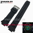 26mm*15mm(lug) For CASIO SKMEI S SHOCK  Waterproof silicone black rubber Wa