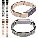 CLAUDIA New Arrival Black Gold Luxury Stainless Steel Watch Band Wrist Stra