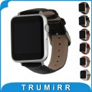 Genuine Leather Watchbband with Adapters for iWatch Apple Watch 38mm 42mm C