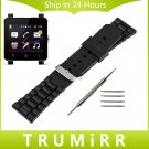 24mm Silicone Rubber Watch Band for Sony Smartwatch 2 SW2 Replacement Stain