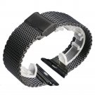 Full Stainless Steel For Original Apple Watch Band Black Silver Mesh For IW