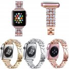 Luxury Bling Rhinestone Strap for Apple Watch Series 3 Band Stainless Steel