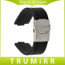 24mm (11mm Lug) Silicone Rubber Watchband for Oris Men's Watch Band Waterpr