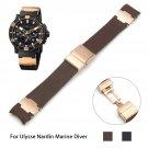 AUTO Waterproof Soft Rubber Watchband Stainless Steel Fold Buckle Watch Ban
