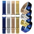 Fashion Gold color Watch Bands Luxury Brand Milanese Stainless Steel Band F