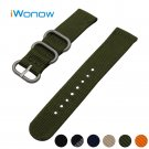 Nylon Watch Band 24mm for Suunto TRAVERSE Stainless Steel Pin Buckle Strap