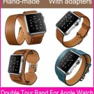 The Extra Long Double Tour Genuine Leather Strap For Apple Watch With Origi