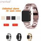 CRESTED Stainless Steel watch band strap For Apple Watch band 42mm 38 for m