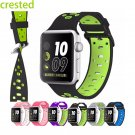 CRESTED Silicone strap for apple watch band 42 mm/38 bracelet Silicone watc