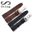 20 21 MM Genuine Soft Calf Leather Watch Band Strap for IWC Mark 17 Series