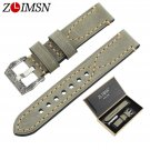 ZLIMSN Manual Vintage Thick Genuine Leather Watch Bands for Panerai Wristba