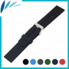 Silicone Rubber Watch Band 20mm 22mm for Pebble Time / Round / Steel / Brad