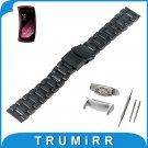 18mm Stainless Steel Watch Band + Adapters for Samsung Gear Fit 2 SM R360 S