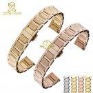 Stainless steel bracelet women's solid metal watchband 14mm 16mm watch stra