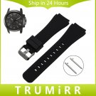 Quick Release Silicone Rubber Watchband for Fossil Q Founder Wander Crewmas