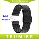 22mm Quick Release Watch Band Stainless Steel Strap for Samsung Gear S3 Cla